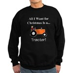 Orange Christmas Tractor Sweatshirt (dark)