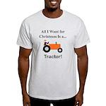 Orange Christmas Tractor Light T-Shirt