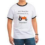 Orange Christmas Tractor Ringer T