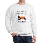 Orange Christmas Tractor Sweatshirt