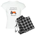 Orange Christmas Tractor Women's Light Pajamas