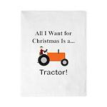 Orange Christmas Tractor Twin Duvet