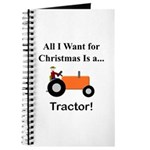 Orange Christmas Tractor Journal