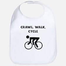 Crawl Walk Cycle Bib
