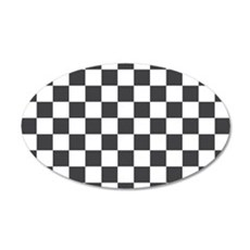 GRAY AND WHITE Checkered Pattern Wall Decal
