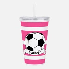 Soccer Ball Banner pin Acrylic Double-wall Tumbler