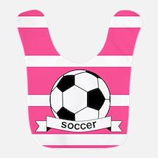 Soccer Ball Banner pink white Bib