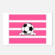 Soccer Ball Banner pink w Postcards (Package of 8)
