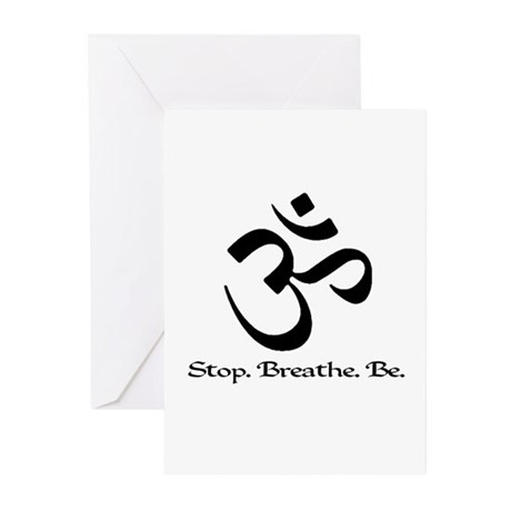 Om: Breathe & Be. Greeting Cards (Pk of 10)