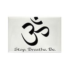 Om: Breathe & Be. Rectangle Magnet