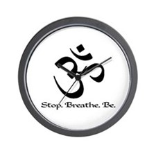 Om: Breathe & Be. Wall Clock