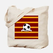 Soccer Ball Banner maroon gold Tote Bag