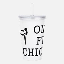 One Fit Chick Acrylic Double-wall Tumbler