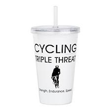 TOP Cycling Slogan Acrylic Double-wall Tumbler
