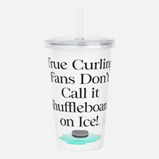 Curling Slogan Acrylic Double-wall Tumbler