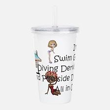 Swim Diva Acrylic Double-wall Tumbler