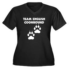 Team English Coonhound Plus Size T-Shirt