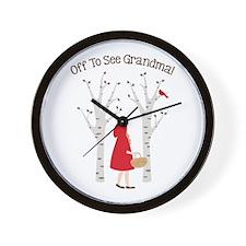 Off To See Grandma! Wall Clock