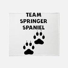 Team Springer Spaniel Throw Blanket