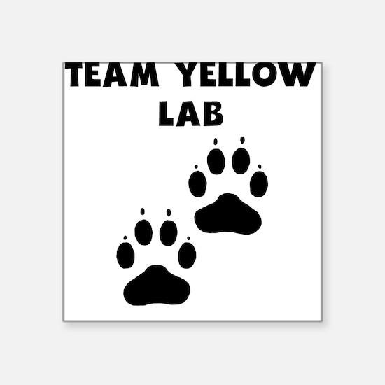 Team Yellow Lab Sticker
