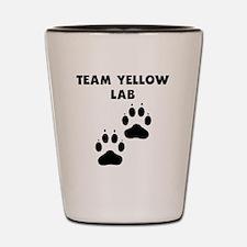 Team Yellow Lab Shot Glass
