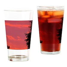 Autumn Sunrise Drinking Glass