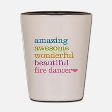 Fire Dancer Shot Glass