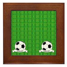 Soccer Field Framed Tile