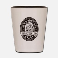 Old Woodbooger Big and Bitter Stout Shot Glass