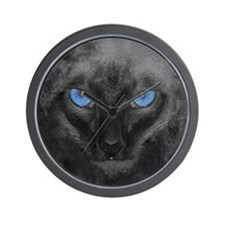 Siamese Cat Face Wall Clock