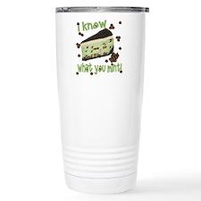 Cute Chocolate ice cream Travel Mug