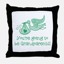 Going to be Grandparents Throw Pillow