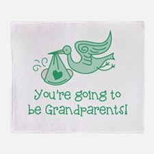 Going to be Grandparents Throw Blanket