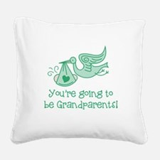 Going to be Grandparents Square Canvas Pillow