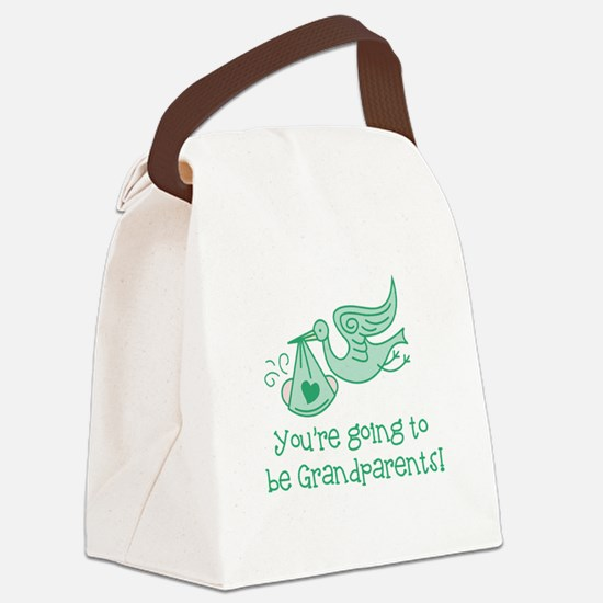 Going to be Grandparents Canvas Lunch Bag