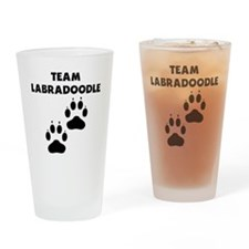 Team Labradoodle Drinking Glass