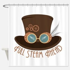 Full Steam Ahead Shower Curtain