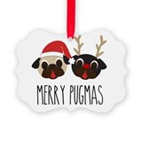 Pug Picture Frame Ornaments