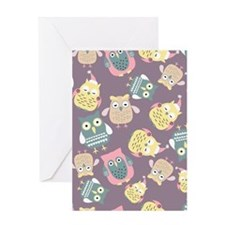 Cute Owls Greeting Cards