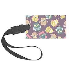 Cute Owls Luggage Tag