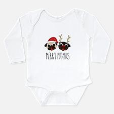 Merry Pugmas Santa & Reindeer Pugs Body Suit