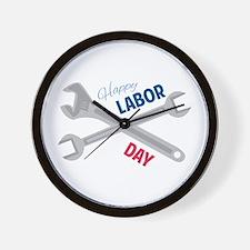 Happy Labor Day Wall Clock
