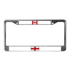 England & Canada Flags License Plate Frame