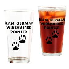 Team German Wirehaired Pointer Drinking Glass