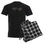Christmas Pony Men's Dark Pajamas