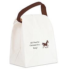 Christmas Pony Canvas Lunch Bag