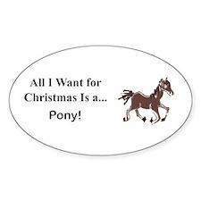 Christmas Pony Decal