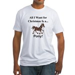 Christmas Pony Fitted T-Shirt