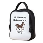 Christmas Pony Neoprene Lunch Bag