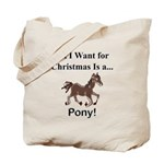 Christmas Pony Tote Bag